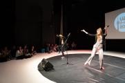 Unsere beiden verrückt-lustigen Moderatorinnen der Finalrunde: Adina Wilcke und Fanny Famos