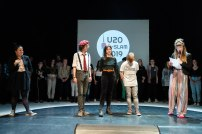 Die drei Finalist*innen: Felix Maier, Martha Schnuderl, Nano Miratus
